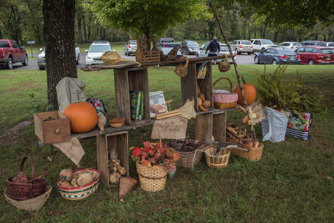Beautiful display for the fall Middle Tennessee Plant Swap